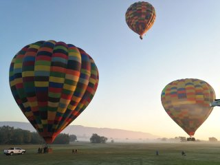 Hot air balloon team building
